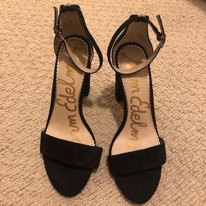 dc75ef093 Sam Edelman black open-toes block heel